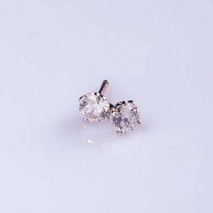 Classic Diamond Studs in white gold